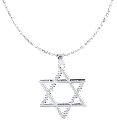 Lemegeton Jewish Star Symbols Pendant Necklace Women Men Jewelry