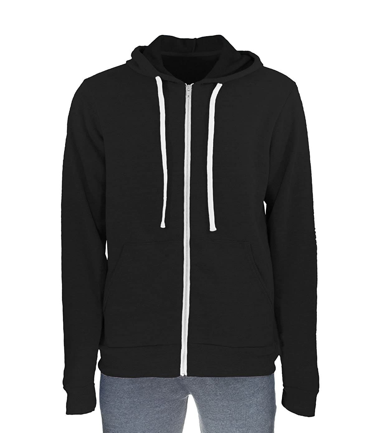 Nayked Apparel Mens Ridiculously Soft Fleece Full-Zip Hoodie