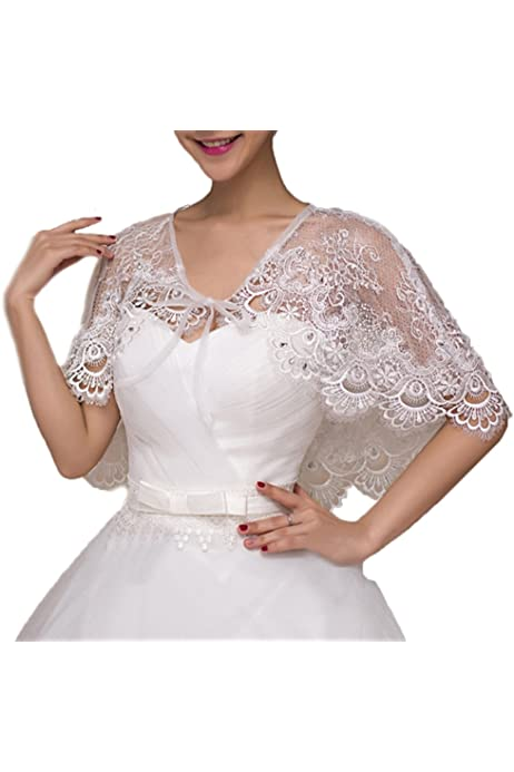 White Lace Knitted Cover Up Wedding Poncho Cape Mohair Shoulder Warmers Elegant Shawl Bridesmaid Bride Bolero Bridal Ballet Wrap Shrug