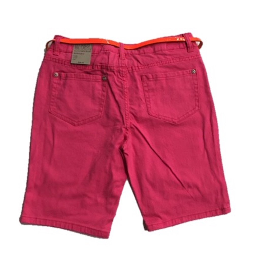 Canyon River Blues Colored Bermuda Adjustable Waistband Pink 16