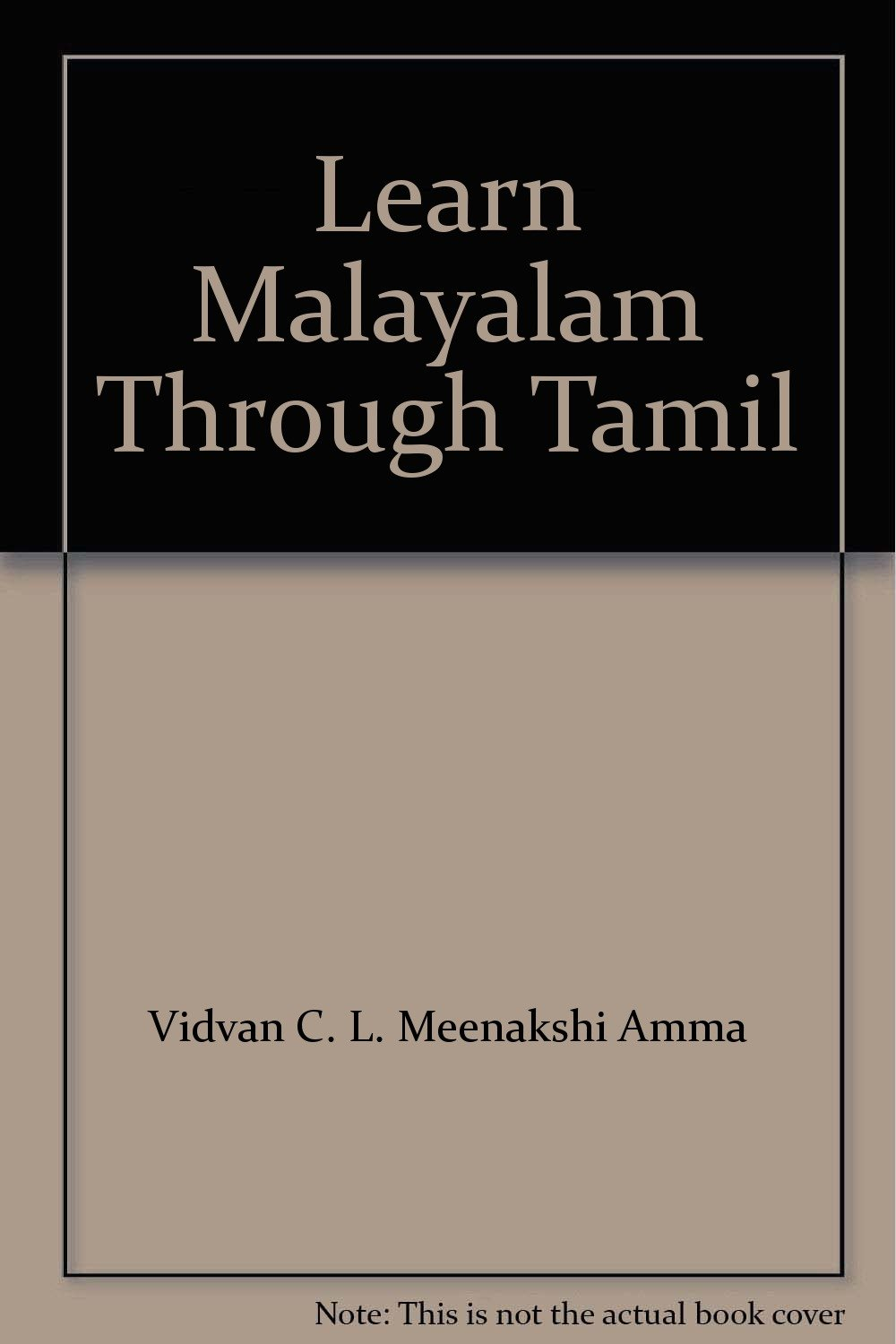 LEARN MALAYALAM THROUGH TAMIL PDF DOWNLOAD