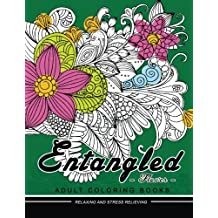 Entangled Flower Adult coloring Book: Flower and Floral with animals coloring book for grown-up