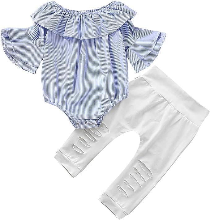 Amazon.com: SANMIO Conjunto de ropa para bebé niña recién ...