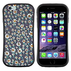 "Pulsar iFace Series Tpu silicona Carcasa Funda Case para Apple (4.7 inches!!!) iPhone 6 Plus / 6S Plus ( 5.5 ) , Campo Flor Wallpaper trullo Pretty"""