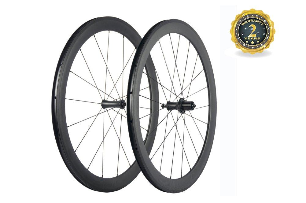 スーパーチーム カーボン 自転車ホイール 50mm クリンチャーロードホイール 700C ロマット仕上げ B077P6W3GP