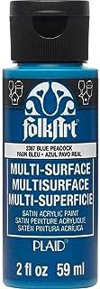 product image for FolkArt Multi Surface Acrylic Paint, 2 oz, Blue Peacock 2 Fl Oz