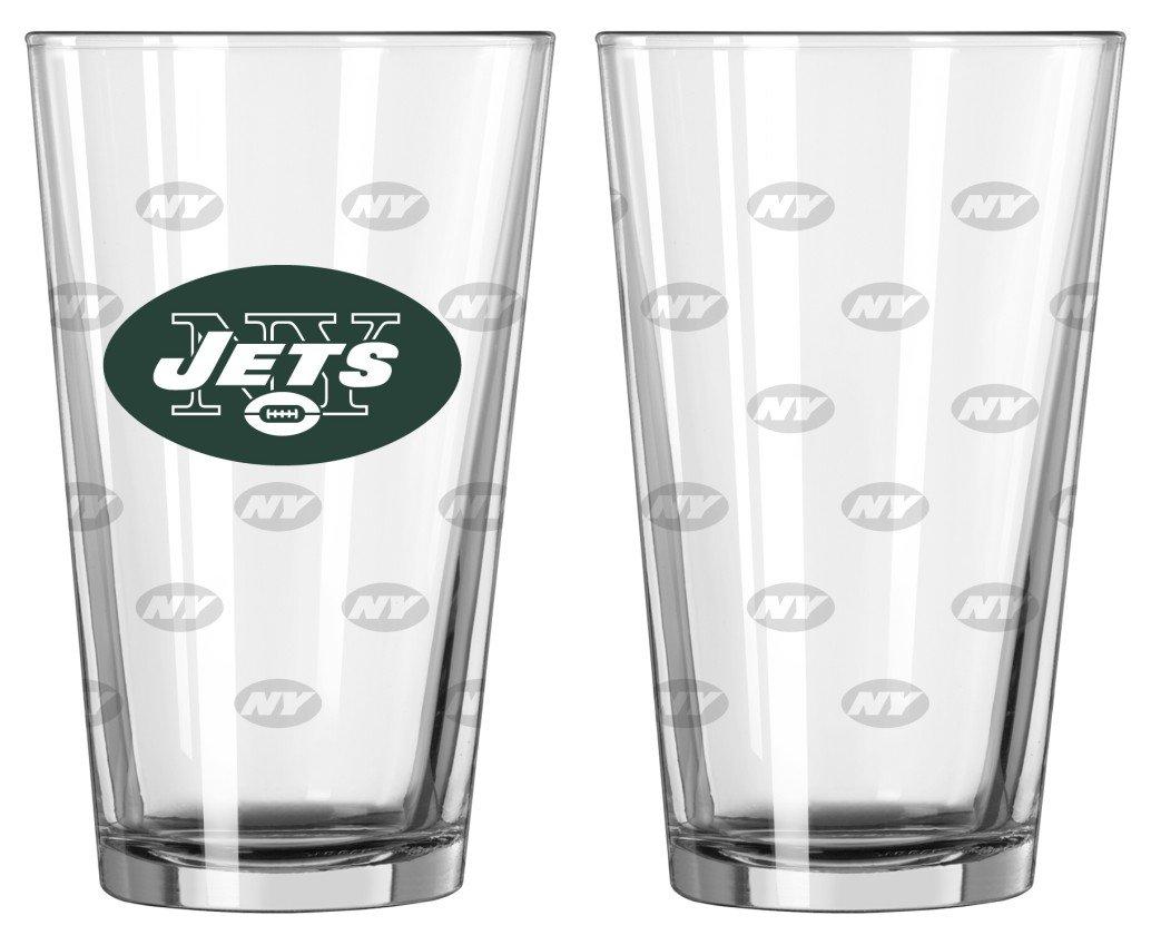 NFL Satin Etch Pint Glass Sets Boelter Brands