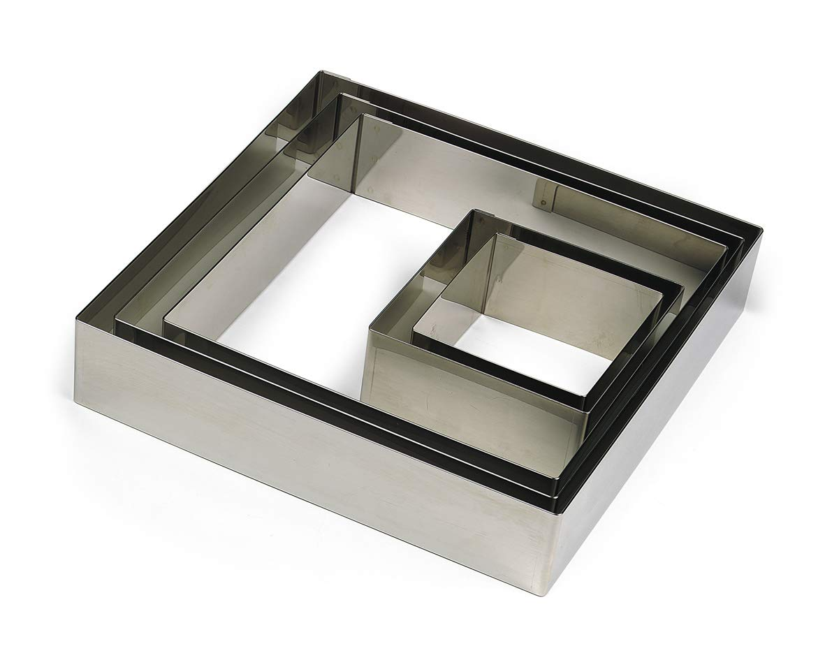 Gobel 863360 Stainless Steel Square Cake Ring 8-11/16 Inch x 8-11/16 Inch x 1-3/4 Inch High by Gobel (Image #1)