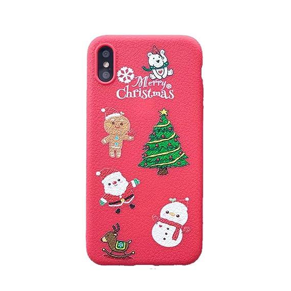 Amazon.com: Pincoo Cute Merry Christmas Phone Case Xmas TPU Ultra ...
