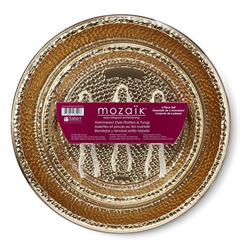 Mozaik HPG1216PDQ Platter Set Disposable Tongs, Medium, (Crudite Set)