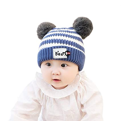 19d3724d568 Amazon.com  Gbell Baby Toddler Winter Crochet Hat Pom Pom - Cute ...