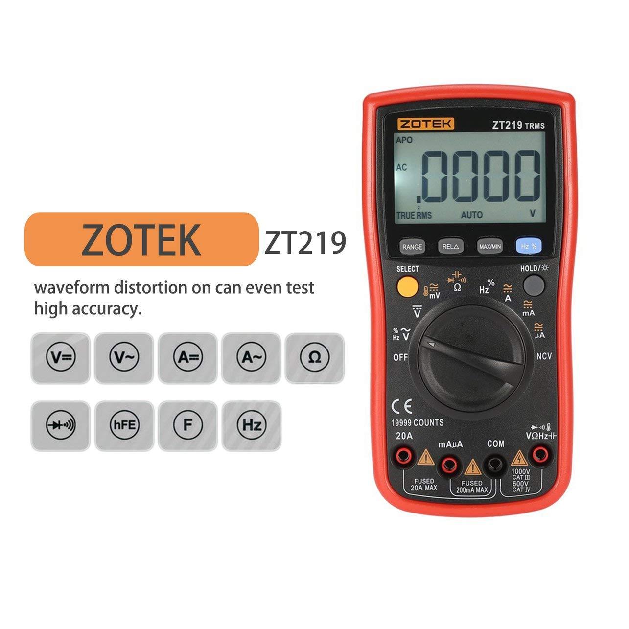 STRIR Cable de la pluma del alambre de la punta de prueba del mult/ímetro del Mult/ímetro digital mult/ímetro digital-1000v 20A