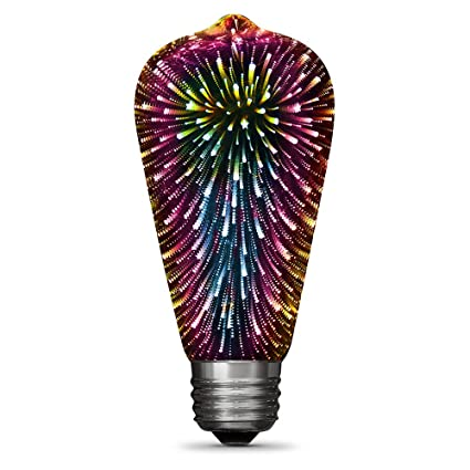 Feit Electric LED ST19 Infinity 3D Fireworks Effect Bulb ST19/PRISM/LED - - Amazon.com