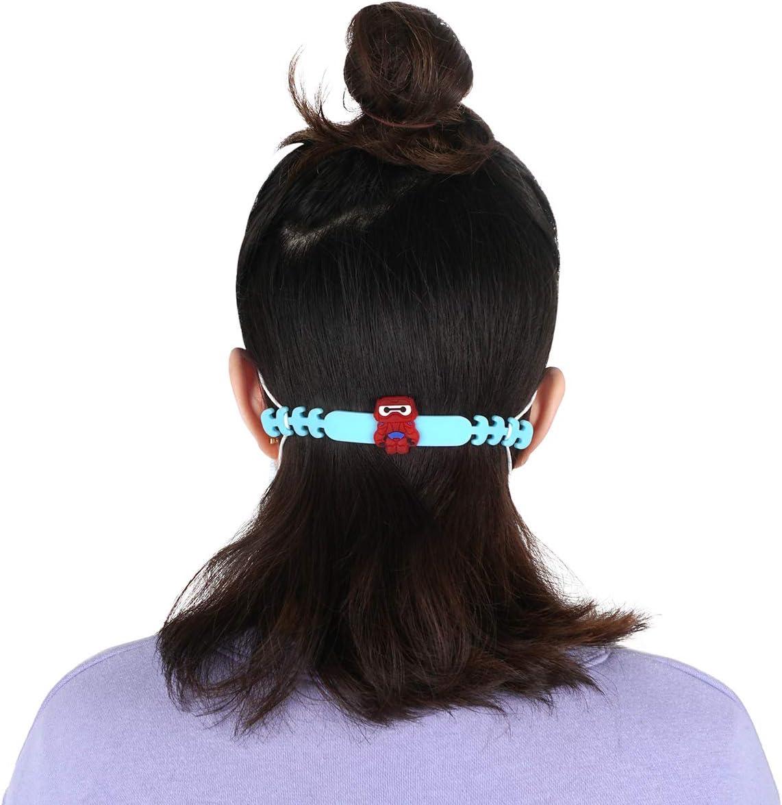 Protector de oreja para m/áscara de silicona I Alivio de los o/ídos para mascarilla de protecci/ón bucal I banda para ni/ños y mujeres I 6 unidades