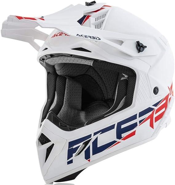 Acerbis Steel Carbon Motocross Helm Weiß Xxl 63 64 Auto