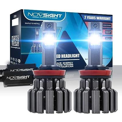 H11/H8/H9,9005,9006,H7 80-90 W/par de bombillas LED para faros ...
