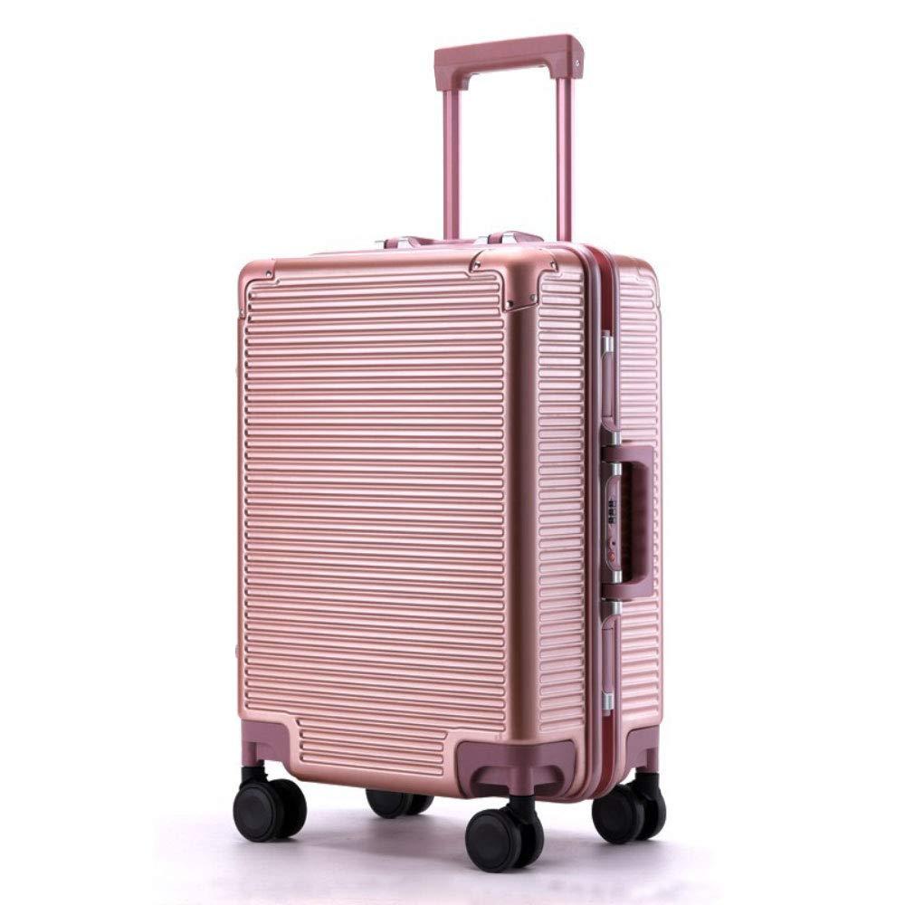 トロリーケース20/24インチスクラッチ耐摩耗性アルミフレームキャスタースーツケース (Color : ローズゴールド, Size : 20 inches)   B07R8X6Z7G