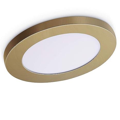 oeegoo® – Lámpara LED de techo bombilla de 6 W, equivalente a 50 W 13 mm Ultraslim LED Lámpara de techo sin ruido/parpadeo ø11.3 cm 4000 K 420LM ...