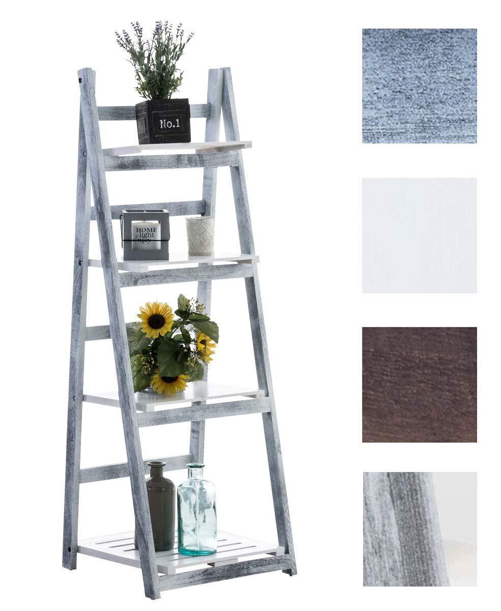 CLP ladder shelf FREDERIKA, approx. 115 x 40 x 35 cm, 4 shelves dark brown