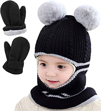 Toddler Boys/' Grey 2 Pack Mittens 1-4 Years