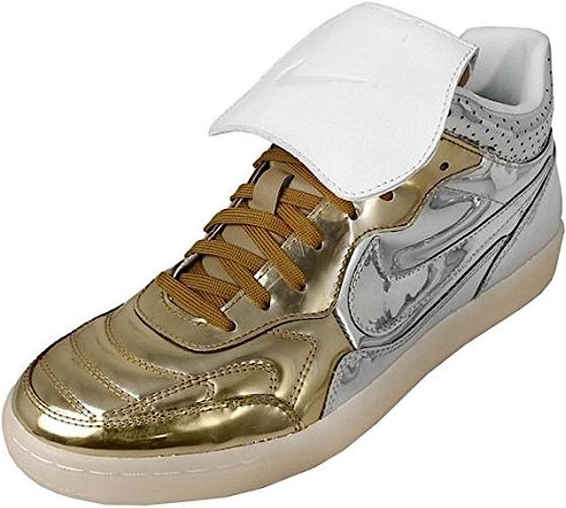 isola Divertimento Problema  Nike Tiempo 94 Mid QS Size 45 US 11 Metal Gold Silver 718301 DLX Liquid  001: Amazon.co.uk: Shoes & Bags