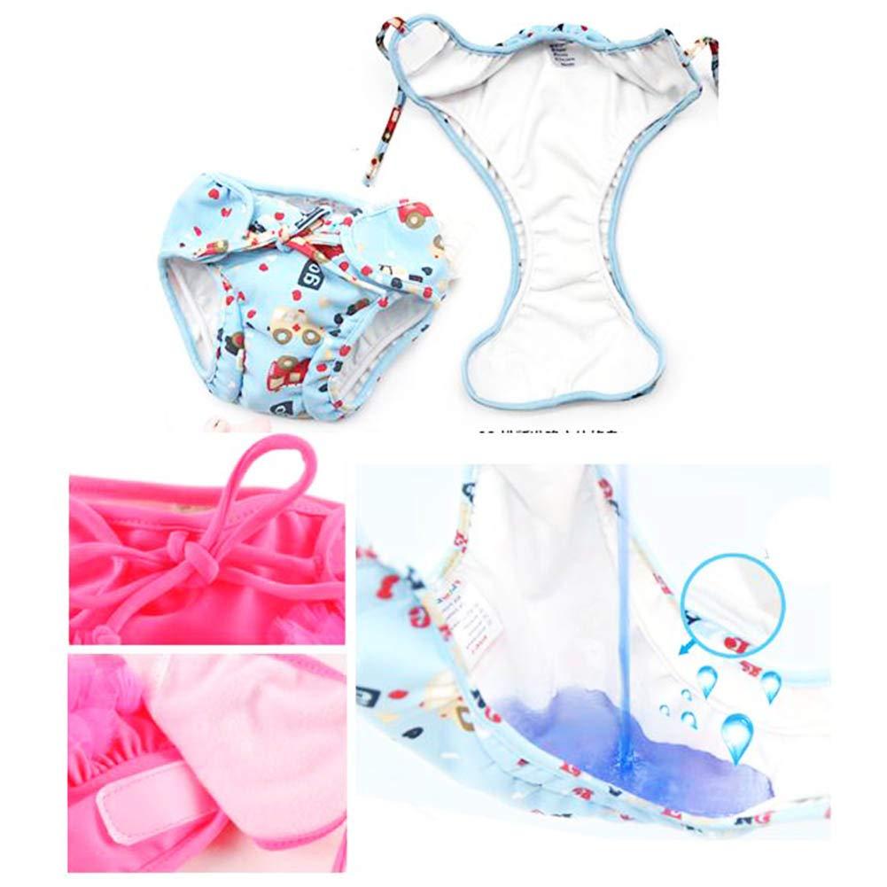 LUNA VOW Pa/ñales de ducha absorbentes ajustables del pa/ñal de nataci/ón reutilizable para el ni/ño del beb/é A24