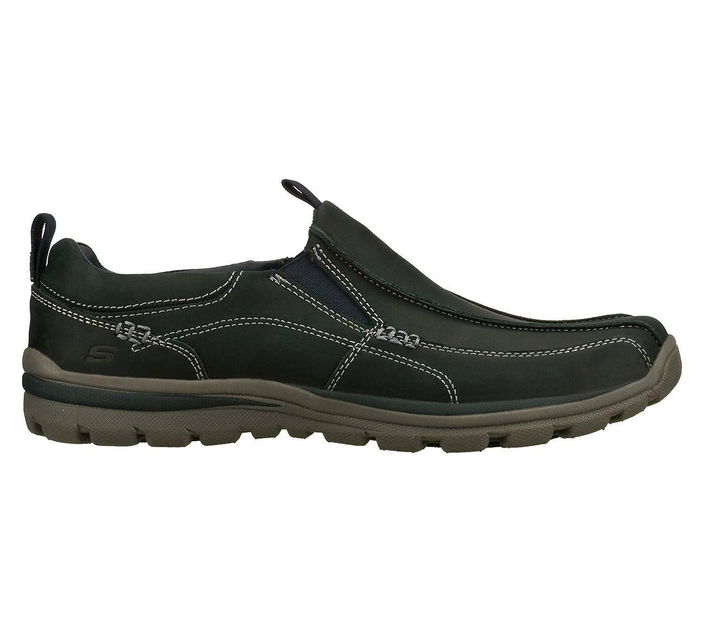 Skechers Uomini Superiori Dell'alta Slittamento Casuale Intelligente Su Scarpe Nere YE5uO5