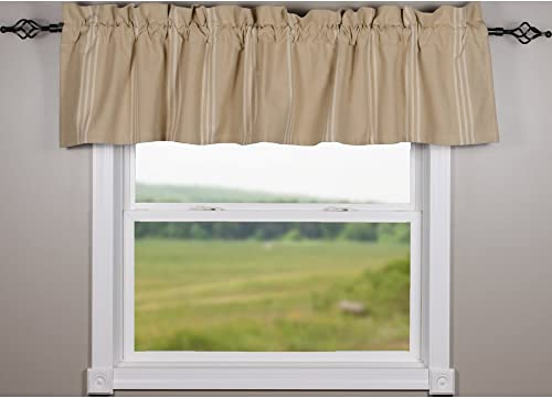 Home Collections by Raghu 72 x15.5 Grain Sack Multi Stripe Buff-Cream Valance