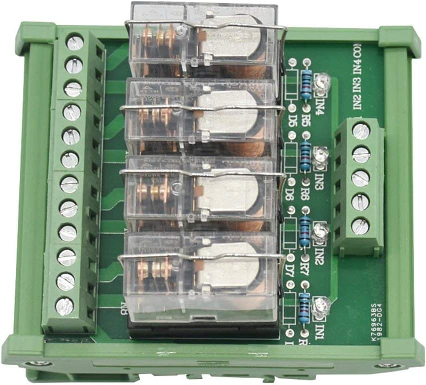 Montage sur rail Din Ac//Dc Gt2A Commande de relais haut de gamme /à 8 canaux Module de relais de puissance 4 vitesses 16A Omron G2R-1-E.X1
