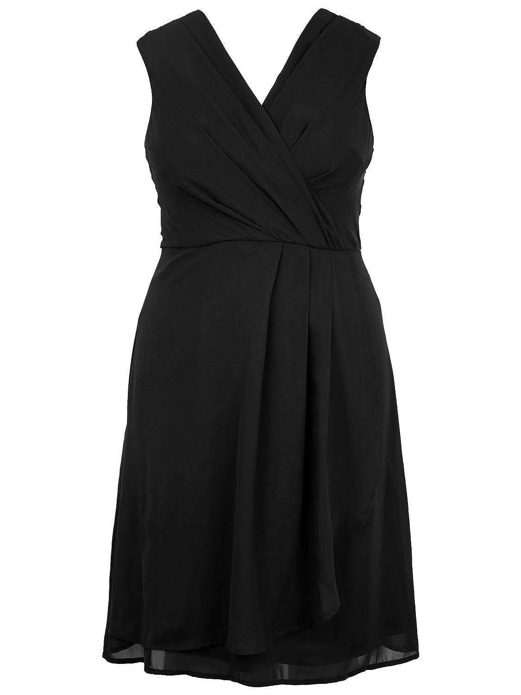VNeck Detail Wrapover Dress