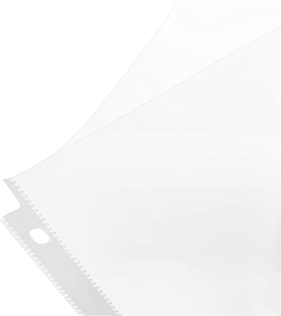 Reinforced Binding Edge.Heavyweight Heavy Weight Sheet Protectors Holds 8.5X11 Papers GTP Clear Top Loading Acid Free Heavy Duty Bulk 100