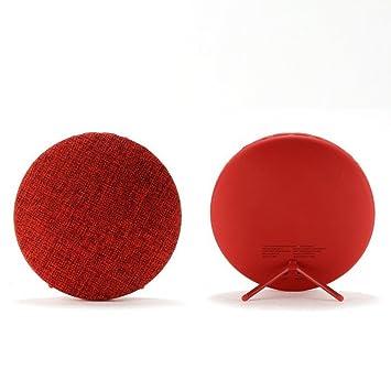 RimeU Bluetooth Altavoces Portátiles Estéreo Altavoz Inalámbrico Stand Sphere Diseñado con Material de tela Batería recargable