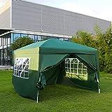 Kinbor Canopy Wedding Party Tent Heavy Duty Outdoor Gazebo Green (10×10+4wall) For Sale