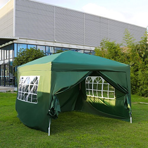 Kinbor Canopy Wedding Party Tent Heavy Duty Outdoor Gazebo Green (10×10+4wall) For Sale
