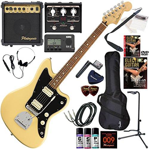 FENDER エレキギター 初心者 入門 メキシコ製 ファットなサウンドを聴かせるジャズマスター。 マルチエフェクターも入ってる!最強の20点セット Player Jazzmaster/BCR(バタークリーム)  BCR(バタークリーム) B07FL8PMPP