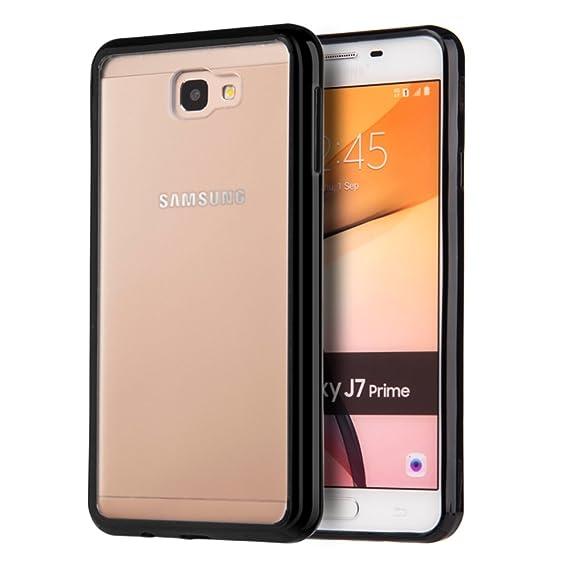 4258a1f18c9 DreamWireless Funda para Samsung Galaxy J7 Prime, Carcasa Transparente de  Acrílico Rígido con Bordes de Plástico TPU, Color Negro: Amazon.com.mx: ...
