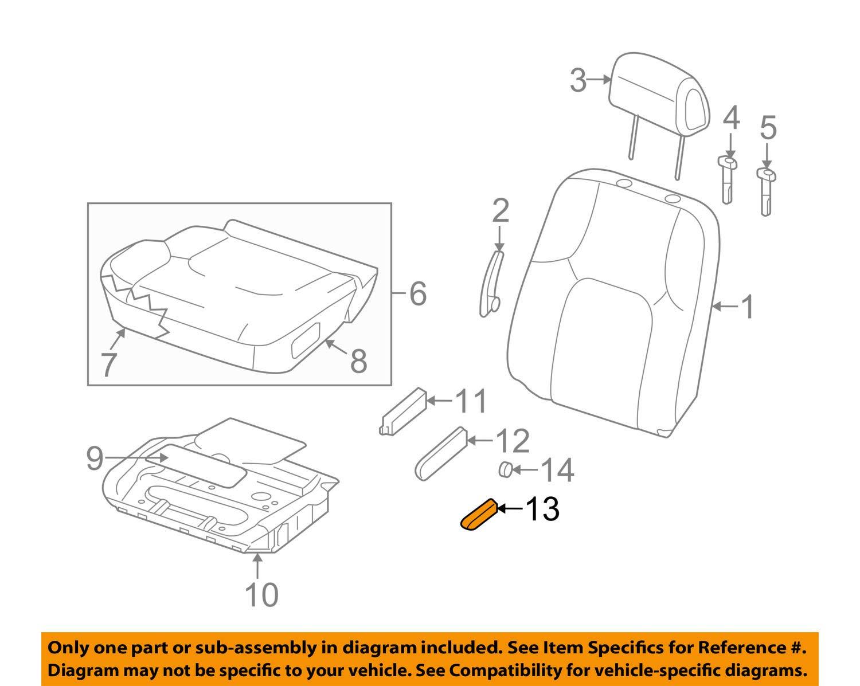 Nissan Frontier Pathfinder Left Driver Power Seat Slide Switch Graphite OEM NEW