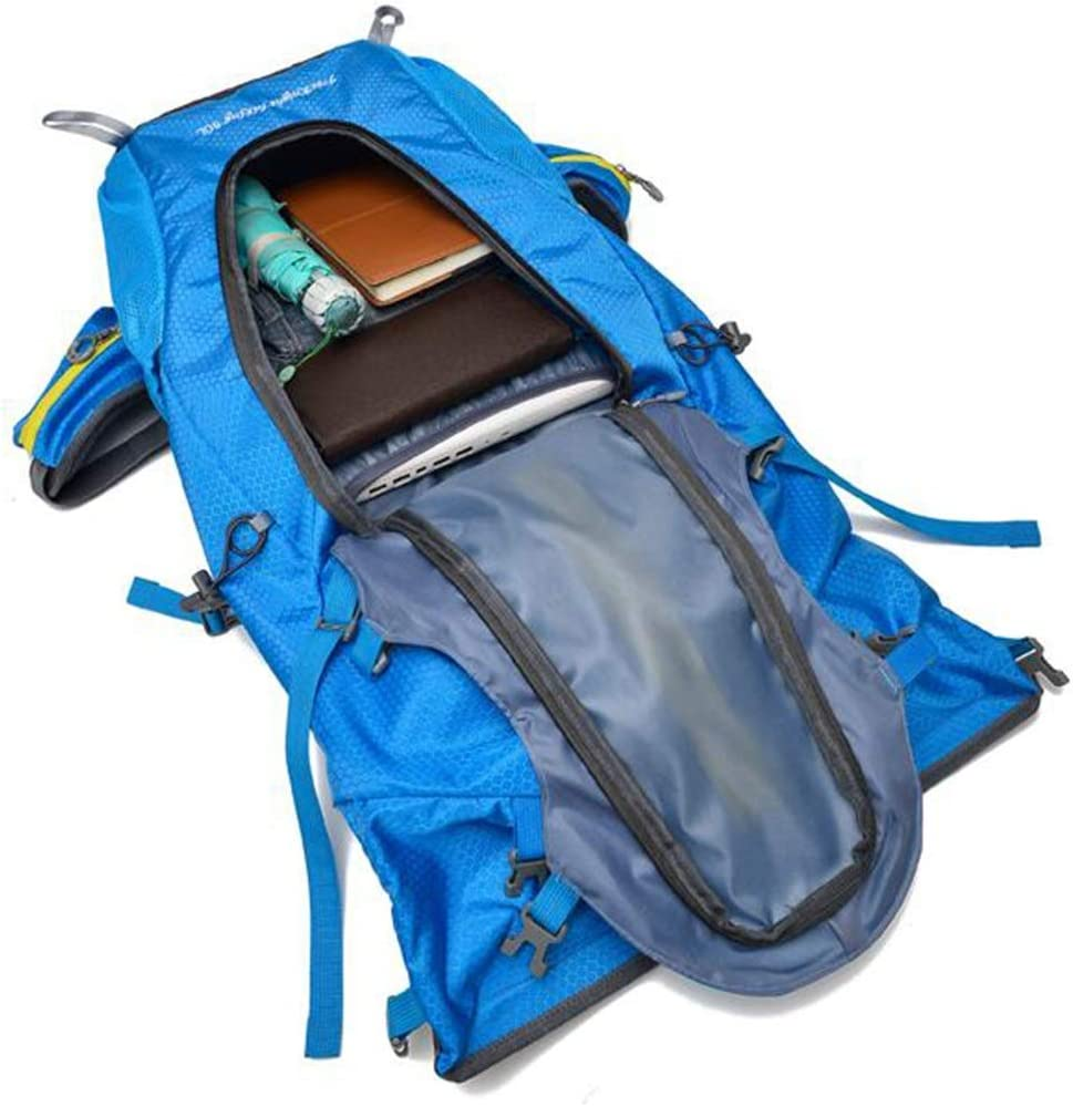 Mountaineering Backpack Haoyushangmao Backpack 50L Color : Yellow Outdoor Mountaineering Multi-Function Backpack Inner Frame Backpack Camping Backpack Latest Models