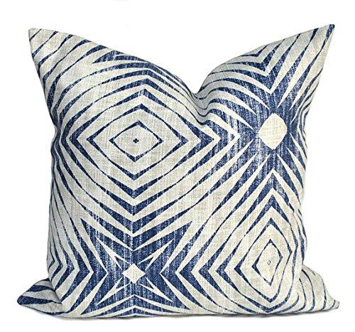 Dutch Von Denim (That Dutch Girl One Scott Living pillow cover, Dark blue Pillow, decorative throw pillow, HGTV pillow, accent pillow, Geometric pillow case, Mid Century, Denim blue)