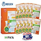 "REGEN ""Pure Cotton"" Facial Mask Sheets – DOUBLE EFFECT COLLAGEN 35g x 10 Pcs, Thickest Sheet with Largest Ampoule of 35g, Authentic Cosmetic from Famous Regen Plastic Surgery Center in South Korea For Sale"