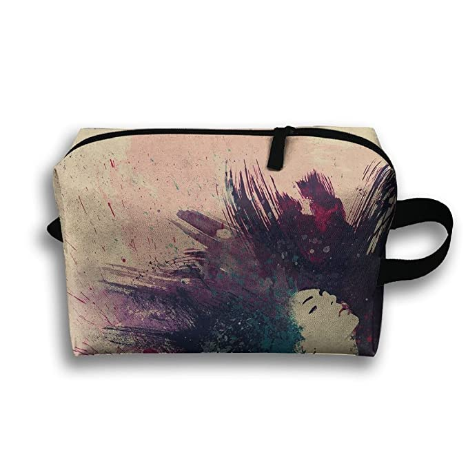 f508587ad0a0 Amazon.com: Women's Travel Case Cosmetic Storage Bags Paint Splatter ...