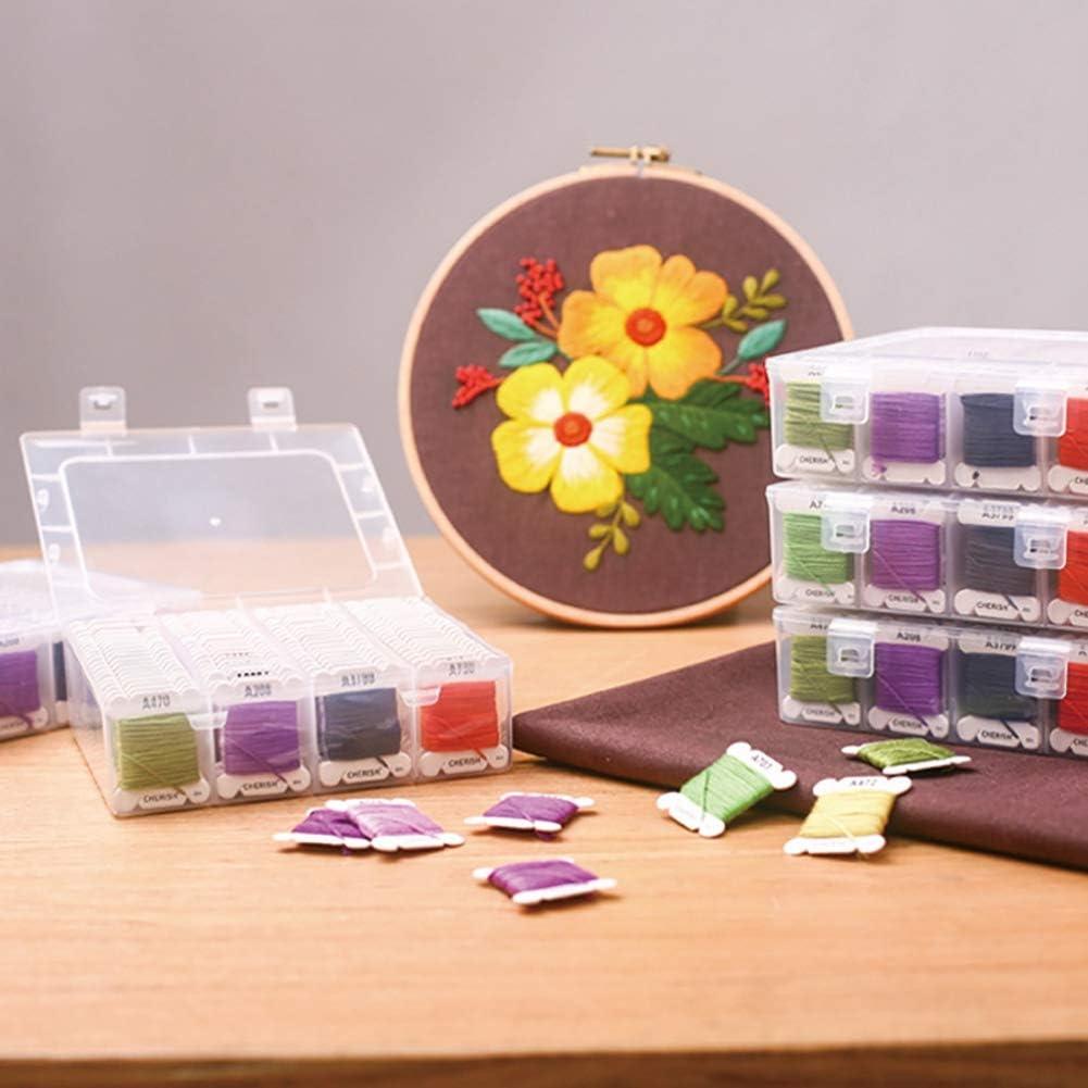 Angmile 80 colores//juego de hilos de bordar 100D poli/éster Bondi hilos de coser 4 metros//tablero DIY accesorios hechos a mano hilo de bordar