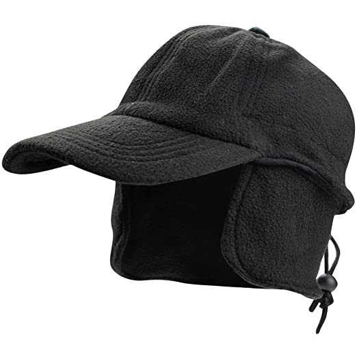 629b5f31a200d eYourlife2012 Mens Winter Thermal Polar Fleece Outdoor Sports Baseball Cap  Hats with Ear Flaps Black