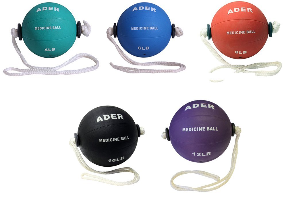 Power Rope Medicine Ball Set- (4, 6, 8, 10, 12lb) PICTURE FOR REFERENCE ONLY. by Ader