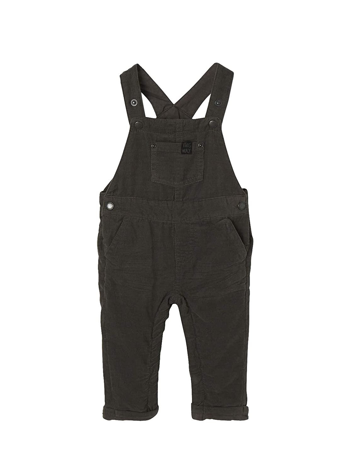 Vertbaudet Baby Boys' Dungarees Grey Anthracite Grey 18 Months(81 cm)