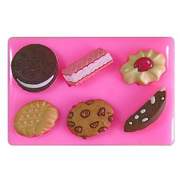 Galletas de Chocolate de Oblea Jammie Dodger Oreo Molde de silicona para la torta de Decoración Pastel de Cupcake Toppers Glaseado Sugarcraft Tool por ...