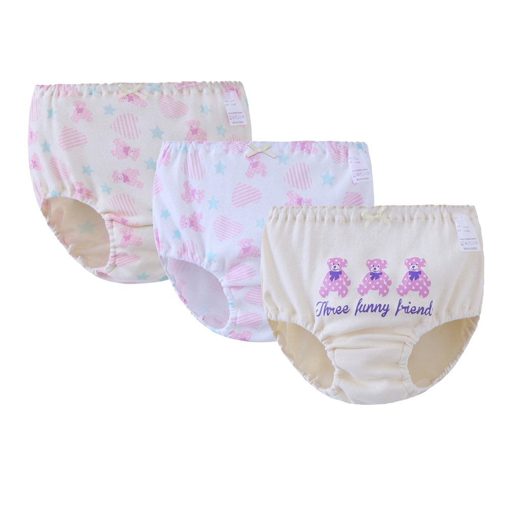 ADAHOP Love Seamless Panties for Girls/Girls Panties (Pack of 3)