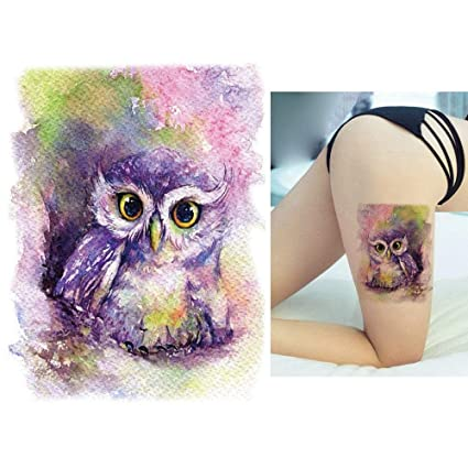 7f8f1c79c Image Unavailable. Image not available for. Color: s9 1x DIY Body Art  Temporary Tattoo Colorful Animals Watercolor Painting Drawing Horse  Butterfly Decal ...