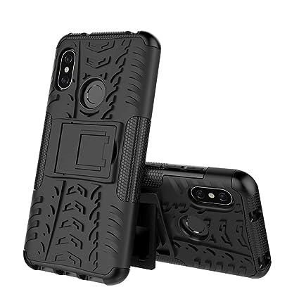 Xiaomi Mi A2 Cover Hybrid DWaybox Rugged Heavy Duty Armor Hard Back Cover Case with Kickstand for Xiaomi Mi A2/Mi 6X 5.99 Inch (Black)