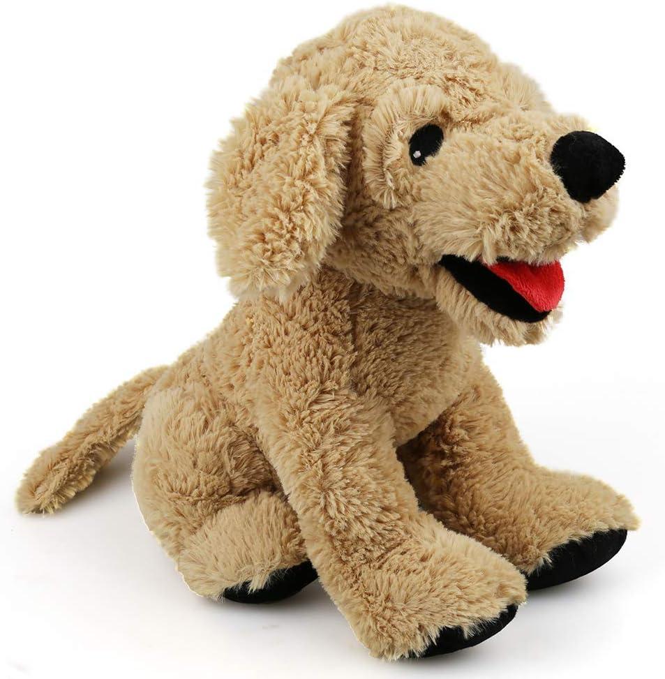 LotFancy Peluche Perro Golden Retriever 30,5cm, Peluches Bebe Suave y Seguro, Sentirse Cómodo Juguete Mejor Regalo para Niños, Parejas, Chicos, Mascotas, Navidad